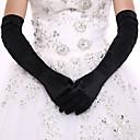 tanie Imprezowe rękawiczki-Spandeks Do łokcia Rękawiczka Rękawiczki ślubne / Rękawiczki imprezowe / wieczorowe Z Sztuczna perła