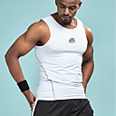 abordables Tops, Pantalones & Short para Correr-Hombre Activo Básico Estampado Tank Tops Un Color