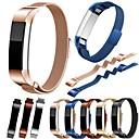 billige Smartklokke Tilbehør-Klokkerem til Fitbit Alta Fitbit Milanesisk rem Rustfritt stål Håndleddsrem