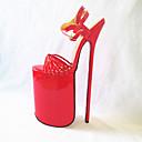 ieftine Sandale de Damă-Pentru femei Pantofi PU Vară Balerini Basic Tocuri Toc Stilat Vârf deschis Rosu / Verde / Albastru Deschis / Party & Seară