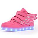 baratos Sapatos de Menino-Para Meninos Sapatos Couro Ecológico Verão Conforto / Tênis com LED Tênis Caminhada LED para Preto Verde / Vermelho / Azul Real