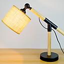 tanie Baterie łazienkowe-Artystyczny 3D Lampa stołowa Na Drewno / Bambus 220-240V Czarny