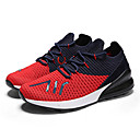 זול סניקרס לגברים-בגדי ריקוד גברים סריגה אביב / קיץ נוחות נעלי אתלטיקה ריצה שחור / אדום / שחור לבן