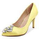 preiswerte Damen Heels-Damen Schuhe Stoff Frühling / Herbst Komfort / Pumps High Heels Stöckelabsatz Schwarz / Gelb / Rot