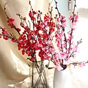 cheap Birthday Home Decorations-Artificial Flowers 1 Branch Modern Style Plum Tabletop Flower