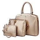 cheap Pressed Powders-Women's Bags PU(Polyurethane) Bag Set 3 Pcs Purse Set Zipper Gold / Black / Royal Blue