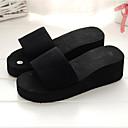 ieftine Flip-Flops de Damă-Pentru femei Pantofi EVA Vară Confortabili Papuci & Flip-flops Toc Platformă Vârf rotund Negru / Rosu