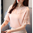cheap Bracelets-Women's Going out Blouse - Solid Colored / Lace
