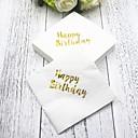 halpa Hääservetit-Pure Paper Häät Napkins - 5pcs Illallislautasliinat Syntymäpäivä Klassinen teema