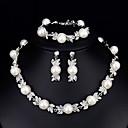 baratos Colares-Mulheres Conjunto de jóias - Europeu, Fashion, Elegante Incluir Branco Para Casamento / Diário