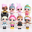 cheap Animal Action Figures-Tronzo 8Pcs/Bag Kawaii Boneca Animals Action Figure People Lovely Princess Plastic Shell Adults' Gift 8pcs