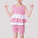 رخيصةأون للأولاد أغطية الرأس-مجموعة ملابس بدون كم بقع منقوش / بقع فتيات أطفال / جميل