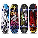 abordables Skateboarding-31 pulgadas Patinetas estándar Arce Ciudad A prueba de resbalones Azul / Negro / Rojo / Azul / blanco