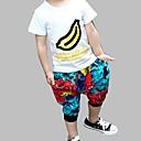 tanie Zestawy ubrań dla chłopców-Brzdąc Dla chłopców Aktywny Nadruk Niejednolita całość Krótki rękaw Bawełna Komplet odzieży