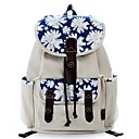 cheap Backpacks-Women's Bags Canvas Backpack Pattern / Print Brown / White / Orange