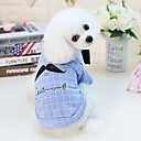 cheap Dog Clothes-Dogs Cats Furry Small Pets Pets Shirt / T-Shirt Dog Clothes Person Letter & Number Cartoon Yellow Blue Cotton / Polyester Costume For Pets