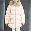 cheap Chandeliers-Girls' Solid Down & Cotton Padded, Cotton Polyester Winter Long Sleeves Red Blushing Pink Gray