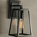 tanie Lampy stołowe-Powłoka antyrefleksyjna Rustykalny Lampy ścienne Sypialnia / Łazienka Metal Światło ścienne 220-240V 40 W / E27