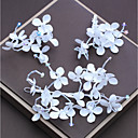 tanie Imprezowe nakrycia głowy-Włókno syntetyczne Stroik z Kryształki / Satynowy kwiatek 1 szt. Ślub / Urodziny Winieta