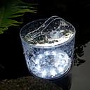 tanie Nowoczesne oświetlenie-HKV 1 szt. 2 W Światła do trawy Wodoodporne / Słoneczny Zimna biel 3.7 V Oświetlenie zwenętrzne