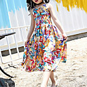 cheap Girls' Dresses-Girl's Going out Floral Dress, Cotton Summer Sleeveless Vintage Rainbow