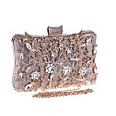 cheap Clutches & Evening Bags-Women's Bags Metal Evening Bag Crystals Champagne / Black / Silver