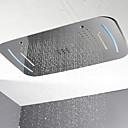 abordables Grifos de Bañera-Moderno Ducha lluvia Cromo Característica - LED / Ducha, Alcachofa de la ducha