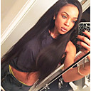 cheap One Pack Hair-Unprocessed Human Hair Lace Front Wig Brazilian Hair Straight Wig Layered Haircut 130% With Baby Hair / Natural Hairline Black Women's Short / Long / Mid Length Human Hair Lace Wig