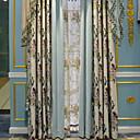 baratos Cortinas Transparentes-Sheer Curtains Shades Sala de Estar Contemporâneo Algodão / Poliéster Estampado