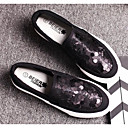 cheap Women's Slip-Ons & Loafers-Women's Shoes Paillette / Canvas Spring / Fall Comfort Loafers & Slip-Ons Flat Heel White / Black