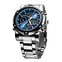 cheap Luxury Watches-ASJ Men's Dress Watch Japanese Alarm / Calendar / date / day / Chronograph Stainless Steel Band Luxury / Fashion Silver