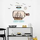 abordables Adhesivos de Pared-Calcomanías Decorativas de Pared - Calcomanías de Aviones para Pared Paisaje Sala de estar Dormitorio Baño Cocina Comedor Habitación de