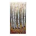 billige Abstrakte malerier-Hang malte oljemaleri Håndmalte - Abstrakt Landskap Moderne Lerret