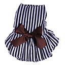 preiswerte Hundekleidung-Hunde Katzen Kleider Hundekleidung Gestreift Schleife Streifen Baumwolle Kostüm Für Haustiere Weiblich Stilvoll Kleider & Röcke