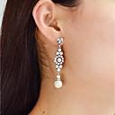 ieftine Cercei la Modă-Cercei Picătură - Imitație de Perle Picătură Modă Argintiu Pentru Zilnic Dată