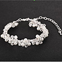 cheap Bracelets-Women's Crystal Bracelet - Pearl Flower European, Fashion Bracelet Silver For Wedding Daily