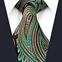 baratos Acessórios Masculinos-Homens Festa Trabalho Gravata Estampa Colorida Estampado Cashemere Jacquard