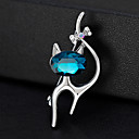 cheap Religious Jewelry-Women's Brooches - Cat, Animal European, Fashion Brooch Silver For Daily / Office & Career