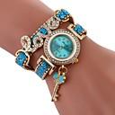 preiswerte Modische Uhren-Damen Modeuhr Chinesisch Imitation Diamant PU Band Freizeit / Modisch Schwarz / Weiß / Blau / Ein Jahr