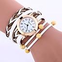 hesapli Bileklik Saatler-Kadın's Bilek Saati Çince Gündelik Saatler PU Bant Günlük / Moda Siyah / Beyaz / Mavi / Bir yıl