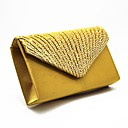 cheap Clutches & Evening Bags-Women's Bags Satin Evening Bag Crystals / Ruffles Geometric Almond / Fuchsia / Light Purple