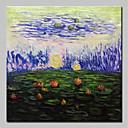 povoljno Slike za cvjetnim/biljnim motivima-Hang oslikana uljanim bojama Ručno oslikana - Sažetak Cvjetni / Botanički Klasik Vintage Uključi Unutarnji okvir / Prošireni platno