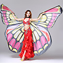 cheap Security Accessories-Dance Accessories Beautiful Girl Stage Props Women's Performance Polyester Butterfly Design Printing Wave-like Butterly Theme Fashion