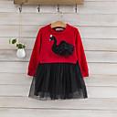 זול שמלות לבנות-שמלה כותנה פוליאסטר אביב סתיו שרוול ארוך יומי טלאים הילדה של חמוד לבן אודם