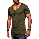 cheap Men's Athletic Shoes-Men's Sports Basic Plus Size Cotton Slim T-shirt - Solid Colored / Short Sleeve / Summer