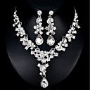 tanie Zestawy biżuterii-Damskie Biżuteria Ustaw - Europejskie, Moda Zawierać Srebrny / Czerwony Na Ślub Codzienny