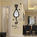 cheap Wall Stickers-Distinguished Ordinary Plastics Resin Novelty Indoor,AA Batteries Powered Wall Clock