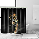 cheap Shower Curtains-Shower Curtains & Hooks Contemporary Modern Polyester Animal Machine Made Waterproof Bathroom