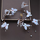 tanie Imprezowe nakrycia głowy-Włókno syntetyczne Stroik z Kryształki / Pióro / Satynowy kwiatek 1 szt. Ślub / Specjalne okazje Winieta