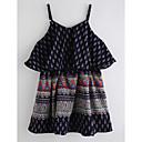 זול שמלות לבנות-בנות בסיסי פשתן מכנסיים - גיאומטרי כחול ים / חמוד / פעוטות